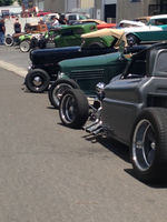 1932 Ford coupe and roadsters at Miller's Chop Shop in Reno, NV